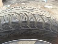 Барнаул: Продам зимние шины R17/215/60 Зимние шипованные шины Nokian hakkapeliitta 5 размер 215/60/17   шипов выпавших мало (самое большое 9шт на колесе) износ