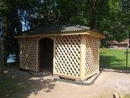 строим не дорого строим деревянные постройки (от сруба до сарая), а так же строим каркасные дома, дома бани из бруса , заборы, кровельные работы , фун, Гатчина - Строительство домов, коттеджей