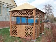 Продам беседку беседка из дерева покрытая водоотталкивающей пропиткой, Энгельс - Строительство и ремонт - разное