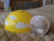 Кемерово: Продам подвесной светильник ikea Продам подвесной светильник (б\у полгода)в отличном состоянии, цвет желтый. Размеры товара- Диаметр: 36 см, Длина про