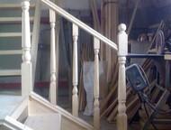Деревянные лестницы Изготавливаем лестницы и лестничные ограждения из массива любой древесины , цена лестниц зависит от количества ступенек, сложности, Кемерово - Двери, окна, балконы