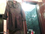 Красноярск: Продам плащ плащёвка. Размер 44, 46 Продам плащ, очень красивый из плащёвки! Не промокает под дождём!   Элегантный, короткий до колена.   Цвет тёмно-к