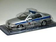 Липецк: полицейские машины мира №48 SAAB 9-5 Московская милиция цвет:серебро, масштаб:1:43, сделан из металла и пластика, модель в блистере, с журналом