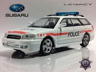полицейские машины мира №58 Subaru legacy полиция Швейцарии цвет:белый, масштаб:1:43, сделан из металла и пластика, модель в блистере, без журнала, Липецк - Коллекционирование