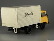Липецк: автомобиль на службе №72 Робур ЛД 3000 Промтоварный фургон цвет:жёлто-серый, масштаб:1:43, сделан из металла и пластика, модель в блистере, с журналом