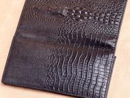 Озерск: Мужское портмоне из натуральной кожи Wild Alligator Новинка 2016 года. Стильное мужское портмоне ручной работы с 3d тиснением. Телефон, деньги, кредит