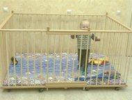 Манеж детский отечественный деревянный 1, 3х1, 8м с высокими стенками 80см Манеж на заказ с высокими стенками до 80см по индивидуальным размерам. Боль, Тюмень - Детская мебель