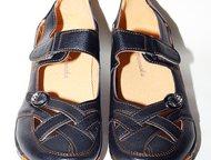 Москва: Туфли черные кожа удобные 39р Удобные туфли по форме ноги на каждый день!   ремешок на липучке.   Новые!     не подошел размер