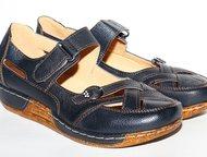 Туфли черные кожа удобные 39р Удобные туфли по форме ноги на каждый день!   ремешок на липучке.   Новые!     не подошел размер, Москва - Женская обувь