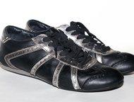 Кеды Levis чёрные 38 р-р Кеды Levi`s кожа  чёрные с серебряными вставками  38 размер, Москва - Женская обувь