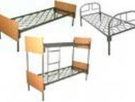 Железные кровати для общежитий, санаториев, подсобок, по низкой цене Представляем продукцию компании Металл-кровати:  - кровати металлические с деревя, Оренбург - Мебель для спальни