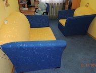 Диван-кровать и кресло-кровать Диван и кресло раскладываются вперед. Состояние хорошее. Вид на Фото., Нефтеюганск - Мягкая мебель