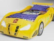 Машина для сна для сына в Нижневартовске Новинка. Пластиковая 3D кровать-машинкаFerrari enzo жёлтого цветабудет уютной кроваткой для спокойного сна , Нижневартовск - Детская мебель