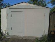 Продаю металлический гараж 21 кв м Продаю гараж 3, 5м на 6м. Пол металлический с деревянным настилом. Толщина металла 5мм., Омск - Гаражи, стоянки