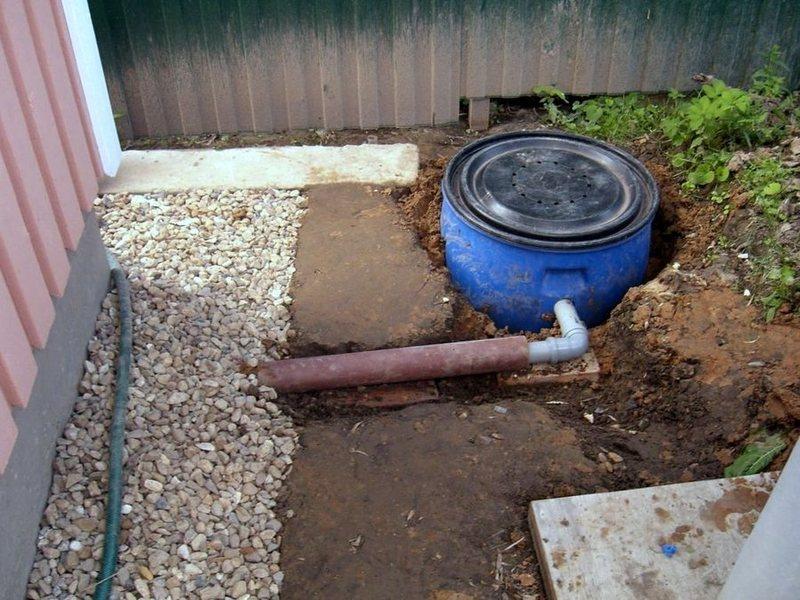 Как сделать на даче слив воды из дома на даче