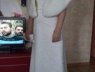 Рубцовск: Красивое свадебное платье Свадебное платье размер 44-46 рост 170-173. Платье 7000, шубка и сумочка 1000 руб.