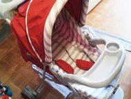 Тольятти: Коляска трёхколёсная Трёхколёсная коляска лёгкая и удобная, со столиком для малыша и пеналом для мамы, большая вместительные корзина, ремни безопаснос