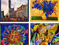 Платки, шарфы из натурального шёлка Продаются платки из натурального (100%-го) шёлка разной тематики, а также с репродукциями великих художников (шага, Тула - Аксессуары