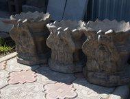 Уфа: Вазон бетонный уличный для цветов Вазон садовый, декоративный, для цветов. Высота 50 см. диаметр 70 см. Вес 90 кг.   Придаст Вашему интерьеру, ландшаф