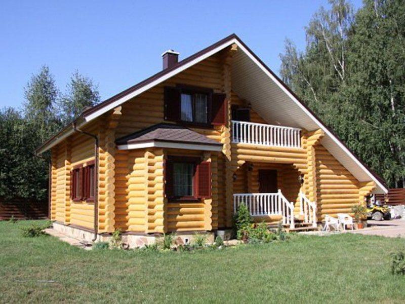 Технология строительства дома из оцилиндрованного бревна в м.