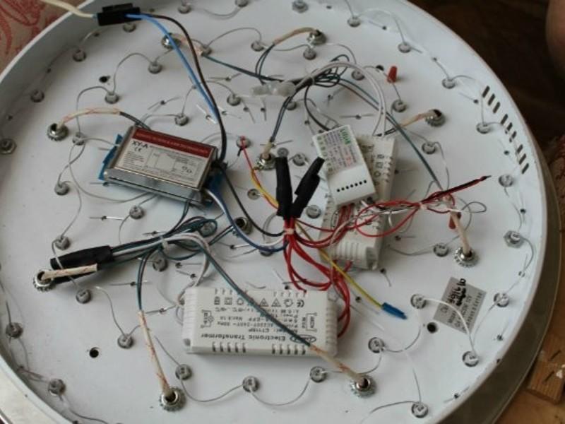 Ремонт люстры с пультом управления ремонт своими руками 43